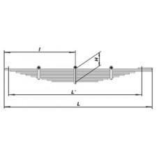 Рессора задняя (10 листов) для автомобиля  КАМАЗ -