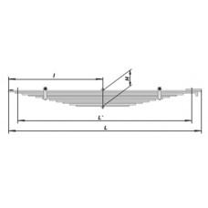 Рессора передняя (11 листов) для автомобиля КАМАЗ-